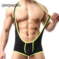 Undershirts 스트레치 셰이퍼 단단한 단위 레오타드 섹시한 남성 속옷 Bodysuit 권투 선수들은 싱글 싱글 레슬링 게이 jockstrap shaper1