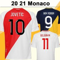 20 21 Monaco Jovetic Fabregas Mens Futbol Formaları Gelson. M Golovin Fofana Ev Futbol Gömlek Tchouameni Glik Keita Balde Kısa Kollu