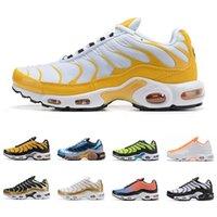 2021 Sıcak TN Artı Mercurial Erkekler Koşu Ayakkabıları En Kaliteli Siyah Beyaz Altın Gökkuşağı Mavi Gri Yeşil Moda Erkek Eğitmenler Spor Sneakers