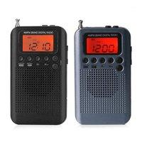 HRD-104 Portable AM / FM Stéréo Stéréo Pocket Stéréo 2-Band Radio Digital Radio Mini récepteur Extérieur avec lanière à écouteurs 1.3 in1