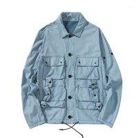 Мужские куртки TopStoney 2021 Konng Gonng Турция Оригинальный Blue Blue Technology Technology Ткань Швейные фортепиано Pocket Pocket Packer1