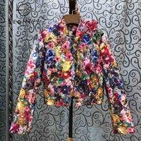 SEQINYY Lüks Ceket İlkbahar Sonbahar Yeni Moda Tasarımı Boncuk Pullarda Kristal Renkli Çiçekler Jakarlı Üst Kadınlar 201021 yazdır