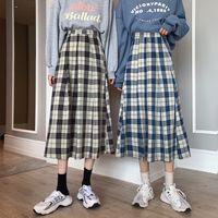 2021 Новые Женщины Юбки Старинные Элегантные MIDI Модный Офис Дамы Chic Shipp A-Line Skirt X31Z