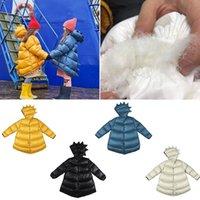 90% Ördek Aşağı Ceket Kukukid Yüksek Kaliteli Çocuk Erkek Kız Dinozor Aşağı Ceket Çocuk Moda Marka Sıcak Taşınabilir Uzun Coat 201102