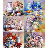 EverShine Diamond Painting Full Square Flowers Picture Of Rhinestones Diamond Mosaic Art Cross Stitch Home Decoration