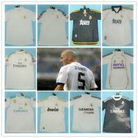 레트로 마드리드 유니폼 빈티지 0 02 03 04 05 06 07 Zidane Beckham Fabregas Ronaldo Carlos Raul Robben Bale Benzema Figo Kaka Owen 클래식 셔츠