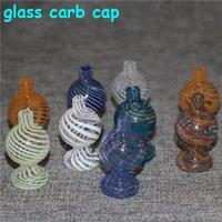 Стеклянный пузырь CARB CAP, CAP CAP CARB, CYCLONE Спиннинг Carb Caps для 25 мм кварц Banger Nails Terp Pearl Bong