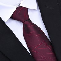Zíper Gravatas 8cm homens clássicos negócio de casamento de negócios 8cm Listrado gravata camisa de moda vestido acessórios1