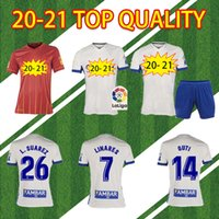 2020 2021 echtes Zaragoza Suarez Linares Fussball Jersey 20 21 Home Javi Ros Soccer Hemd Kagawa Football Uniform Camiseta de Futbol Guti