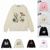 Nueva arival 21ss para mujer para mujer diseñadores con capucha Moda Lamb Animal Otoño Invierno Hombres Manga Larga Sudadera Sudaderas Sudaderas