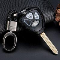 أسود حامي غطاء مفتاح فوب حالة حامل صالح لتويوتا 4runner المحدودة SR5 TRD 2010-2020 الملحقات