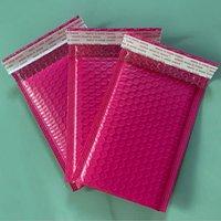 100 pcs bolha mailers acolchoado envelopes pérola película presente presente correio envelope saco para livro revista alinhado mailer auto selo cor-de-rosa h wtrcw rhie