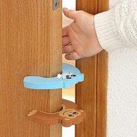 5pcs / lot de silicona Puertas Puertas decorativas tapón de la puerta de seguridad del bebé Cuidado de Animales de dibujos animados los niños del cabrito Protección TluG #
