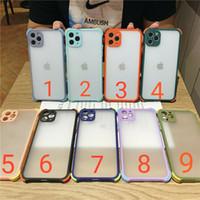 Armor Shockproof Matte 케이스 iPhone12 11 Pro Max X XR 하드 PC Samsung S20 용 Ultra S20 S10 Note20 10 A50 A21S A31 A51 A71
