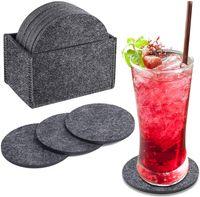 Lista de tecido de pano de feltro antiderrapante resistente ao calor para bebidas Cups 12pcs Cada kit com caixa de armazenamento
