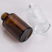 30 ملليلتر زجاجة زجاجية مسطحة الكتف متجمد واضح العنبر الزجاج جولة الضروري زجاجة المصل الزيت مع زجاجات الزجاج الزجاج التعبئة 139 G2