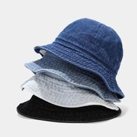 Cappelli lavati in denim cappelli da donna Primavera estate Panama Pescatore Cappuccio Berretto da uomo Pieghevole Outdoor Travel Sun Hats Black Gorros Commercio all'ingrosso