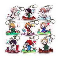 Nyckelringar anime krafter hetalia aph nyckelring ring akryl pendant gåva1
