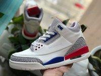 أعلى جودة جديد 3S نقية بيضاء 3 أحذية الكرة الرجال رخيصة كما NRG سيول العبث كاترينا jth رمي الحرة لينيل og الأسود الأسمنت أحذية رياضية