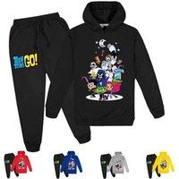 2-16Y Baby Одежда для одежды Teen Titans GO Hoodie Tops Брюки 2 шт. Набор Детские спортивные костюмы Мальчики трексуиты малышей наряд девушек в 2011 год226