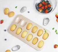 베이킹 금형 12 컵 nonstick madeleine 팬 헤비 듀티 탄소 철강 금형 케이크 도넛 형 금형 주방 베이킹 도구 madeleine 케이크 wmq216