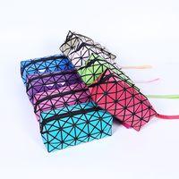 Moda Mulheres Cosméticos Bolsas Capas Geométricas Folding Fazendo Saco Qualidade PVC Organizador Maquiagem Caso Beleza Sacos Wq505