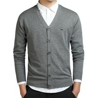 New Men Polos V-образным вырезом кардиган свитер осень зима хлопка Harmont вышивки Blaine свитеры