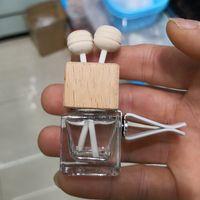 Coche de cristal Personalidad de la botella de perfume 8ml Cubo de la moda Gire la abrazadera del automóvil Ambientador de aire esencial Difusor de aceite Esencial Vacío Venta caliente 1 8zk K2