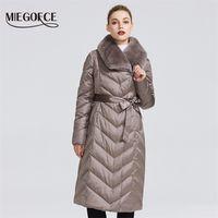 Miegofce Yeni Koleksiyon Kadın Ceket Tavşan Yaka Kadın Kış Ceket Sıradışı Renkler Rüzgar Geçirmez Kış Parka 201210
