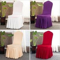 Sedia sopragonna banchetto di cerimonia nuziale sedia Protector Fodera Decor gonna a pieghe sedia in stile Covers elastico Spandex Sedie Covers IIA712