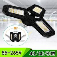 40/60 / 80W Superheller Industriebeleuchtung E27 LED-Lüfter Garage Licht 8000LM 85-265V 2835 LED High Bay Industrial Lampenworkshop