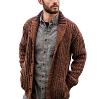 Sweater Cardigan Men Thick Sleeve Long Jacket Fashion Casual Slim Loose Collar Button Knit Solid Color Sweater For Men Plus Size 5XL