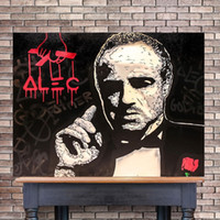 Alec Monopoly Abstract Oil Painting The Godfather Movie Post...