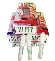 2021 미국 인기있는 안녕하세요 플라이 포드 빈 vape 카트리지 전체 세라믹 카트리지 10 다른 스티커와 함께 hifly