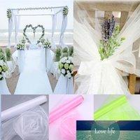 48CMX5M Tissu en cristal organza Tulle rouleau de décoration de la table Mariage organza chaise chaise Sashes TULLE TABLE JUPE Jupe de mariage Decor66