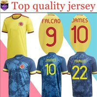 Thailand Qualität 2020 Kolumbien Auswärts Fußball Jersey James Copa America Colombia Football Hemd Falcao Camiseta de Futbol MAILLT