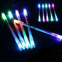 Resplandor giratoria bolígrafos Turn Spinning juego pluma para los niños luces de colores brillantes, flash LED regalo creativo juguete School Supply