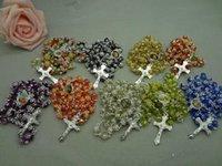 Сотые ювелирные изделия Anniversary Fatima 8 цветов Розарьего Polymer цветы из бисера четки католицизм ожерелье