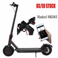 Mankeel Elektrikli Scooter 7.8AH 25km Aralığı 350 W Güç Spor Akıllı Uygulama Ile Katlanabilir / Led Ekran Ebike Mountain Bisiklet AB / ABD stokta Hızlı Kargo