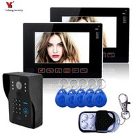 الأمن Yobang 9 بوصة فيديو إنترفون 1000TVL الأمن كاميرا الباب في الهواء الطلق محفظة 5pcs RFID الوصول فيديو الجرس الهاتف الداخلي