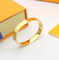 Braccialetti migliori Braccialetti di alta qualità Braccialetto di alta qualità Braccialetti in acciaio in acciaio 361L Personalità Semplice per coppie Braccialetti Fornitura di moda