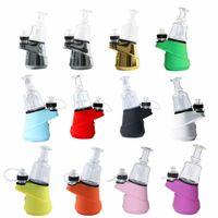 Original Greenlightvapes G9 SOC Temp Control-Wachs-Konzentrat Öl ENail Dry Herb Vaporizer 2600mAh Glas Wasser Dab Rig Bubbler ENail Kit