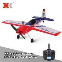 WLTOYS XK A430 2.4G 5CH RC самолет бесщеточный мотор 3D6G система Glide RC плоскость 430 мм Wingspan EPS RC самолетов самолет модель RTF Y200413