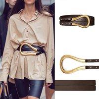 Дизайнер пояса высокого качества из натуральной кожи ремни для женщин моды талии Широкий пояс для пальто рубашки