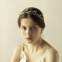 Leiin Opal Crystal Bride Vid Boda Crown Crown Joyería de la boda1
