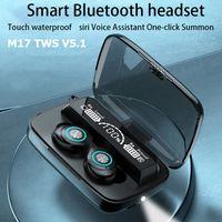 Dernier M17 TWS V5.1 Sans fil Bluetooth Écouteurs Bluetooth Stéréo casque Sports Casque de sport avec écran numérique Earbud à l'oreille pour tous les téléphones intelligents