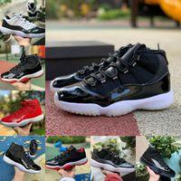 Nouveau Jubilé Bred High 11 11S Mens de basketball Chaussures de basketball Midnight Marine Space Confiture Gamma Blue Concord 45 basse Colombie Designers rouges blancs