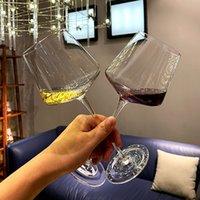Caneca de copo de vidro isolada de cristal caneca de champanhe flautas de champanhe taças de vinho copos de vinho criativo cozinha lj200821