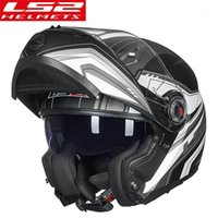 Ls2 ff370 hombre Flip Up Cascos de motocicleta Dual Shield Motorbike Casco Cascos Crucero Accesorios Automotrices LS2 Moto ECE1