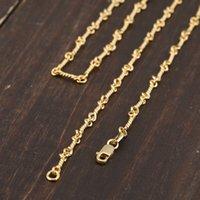 S925 Sterling Silber Halskette Perlenkette Einfache Persönlichkeit Klassische Schmuck Plattiert 24 Karat Gold Paar Modelle Liebhaber Geschenk 2021